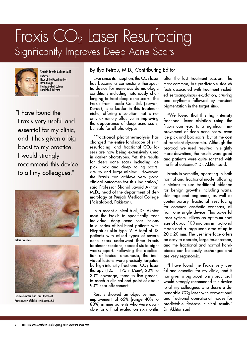 2015 European Aesthetic Guide Spring FRAXIS by Dr. Shahid.compressed 1