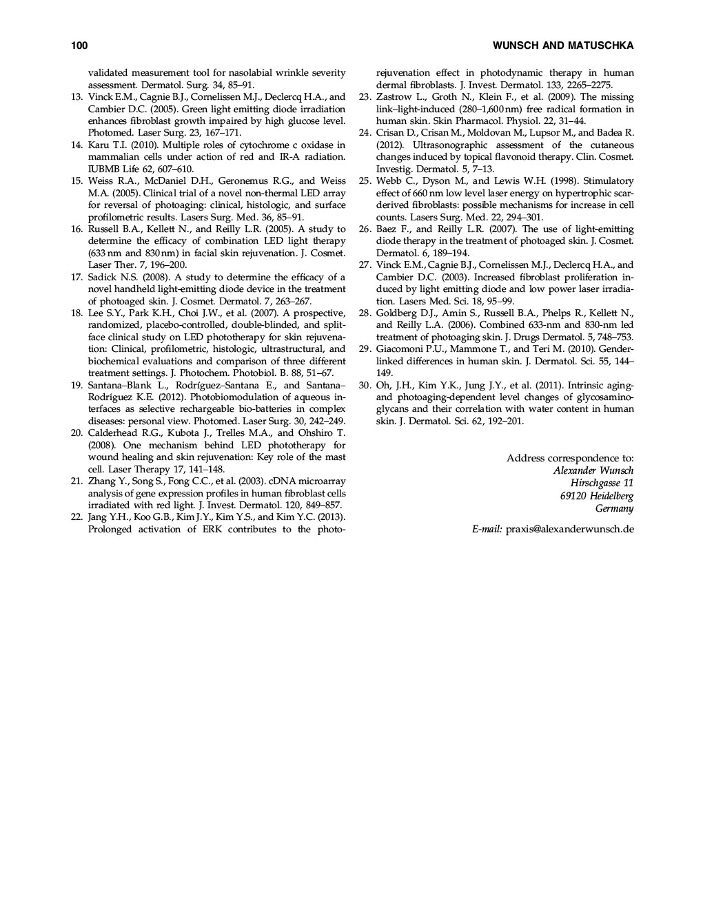 Efficacy of Red Near Infrared Light Treatment 8