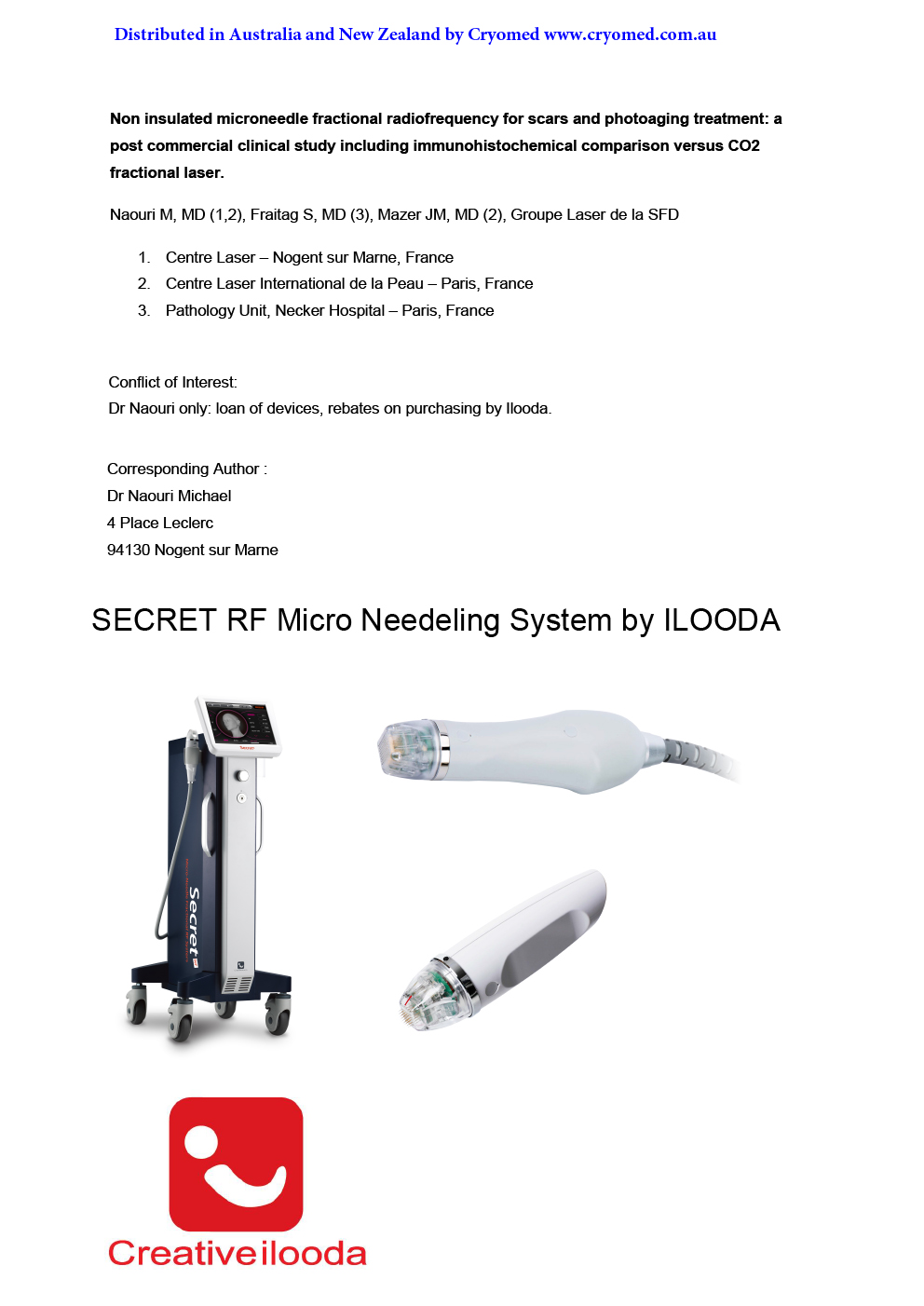 r2 Non insulated microneedle radiofrequency for the treatment of scars and photoageing by Dr. Naouri 1